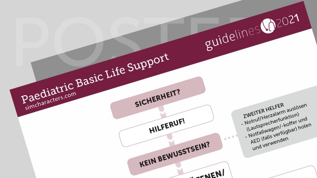 SIMCharacters Paediatric Life Support Algorithmus